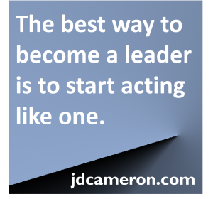 Act like leader