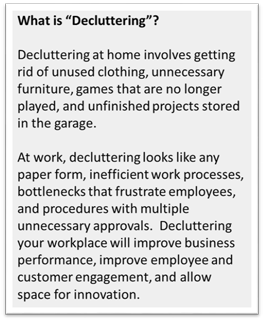 What is decluttering
